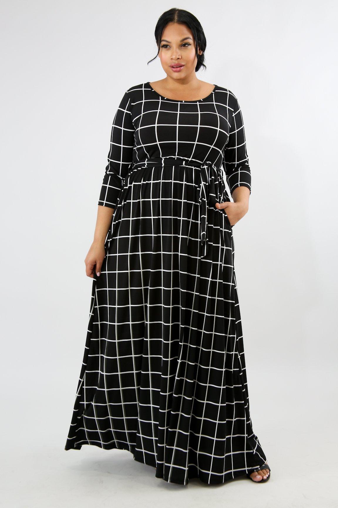 Boxed Maxi Dress