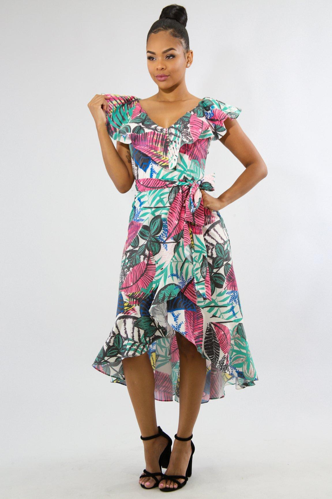 Paradise Floral Midi Dress