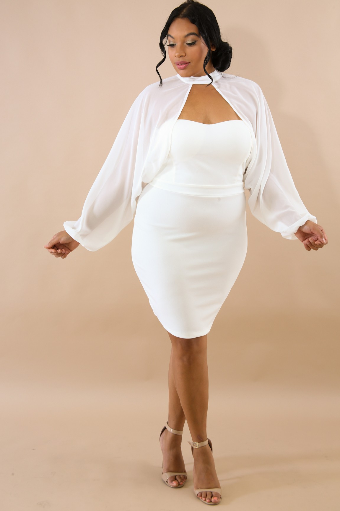 Sheer Sweetheart Choker Dress
