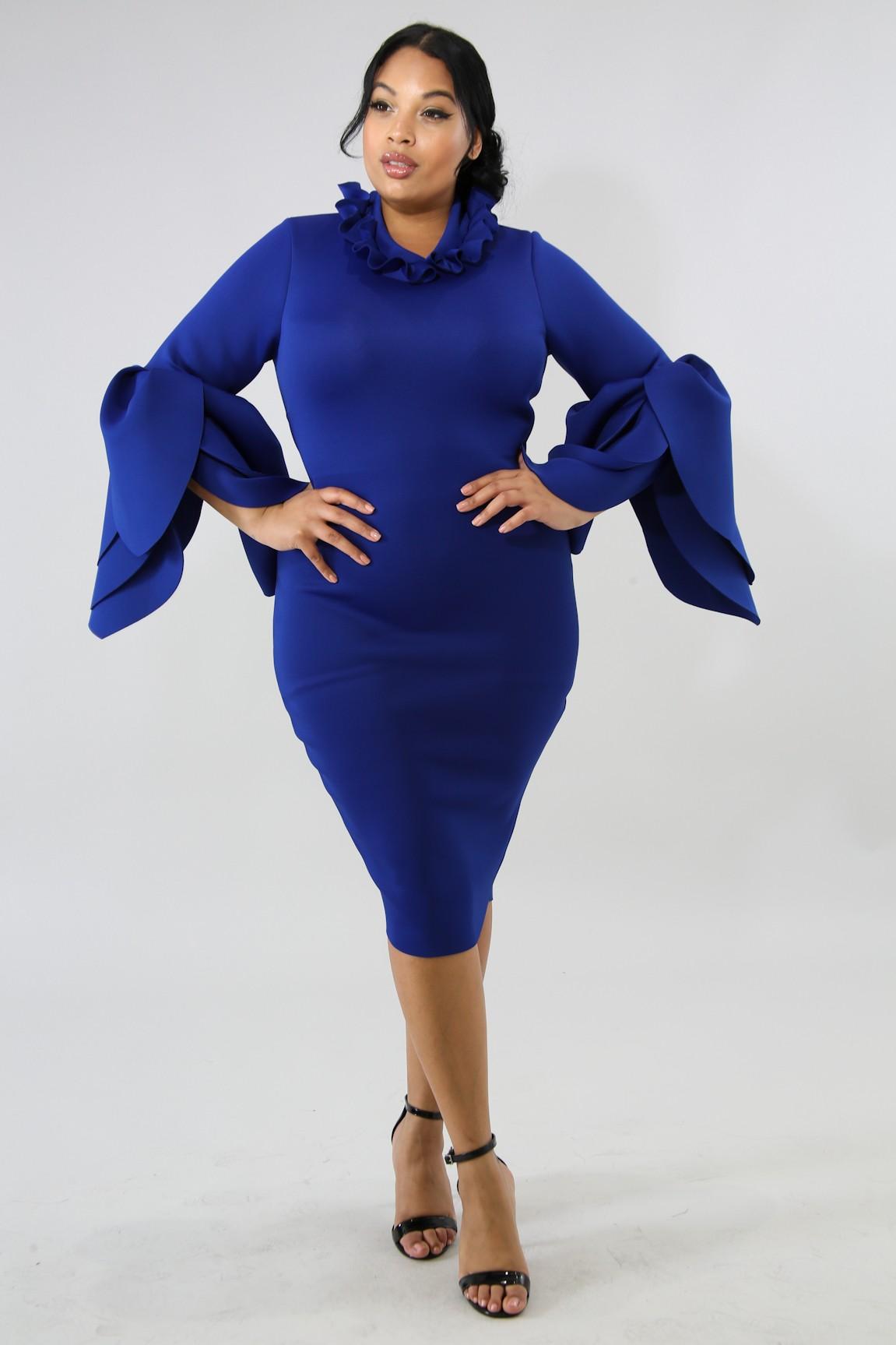 Petals Body-Con Dress