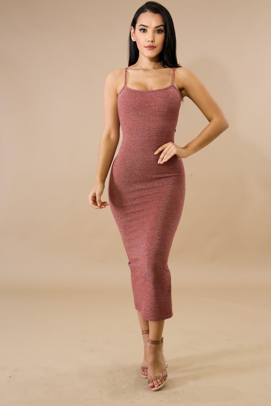 Shinny Bodycon Sleeveless Dress