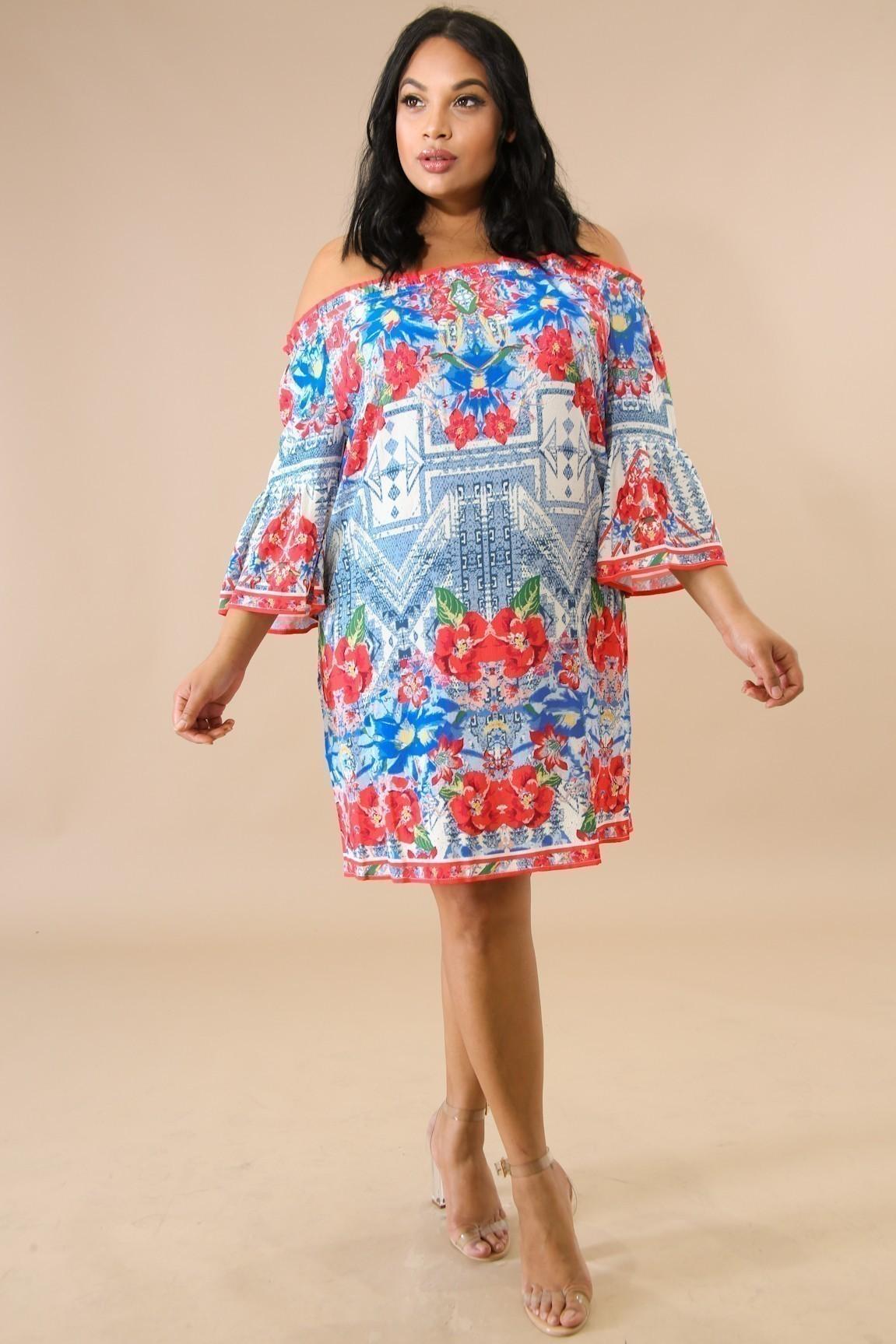 Poinsettia Flare Dress
