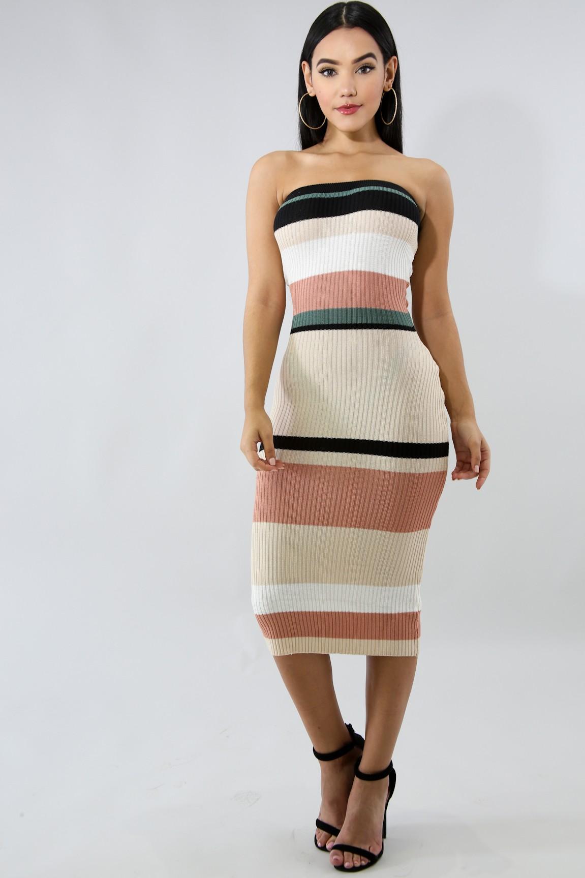 Hour Glass Knit Body-Con Dress