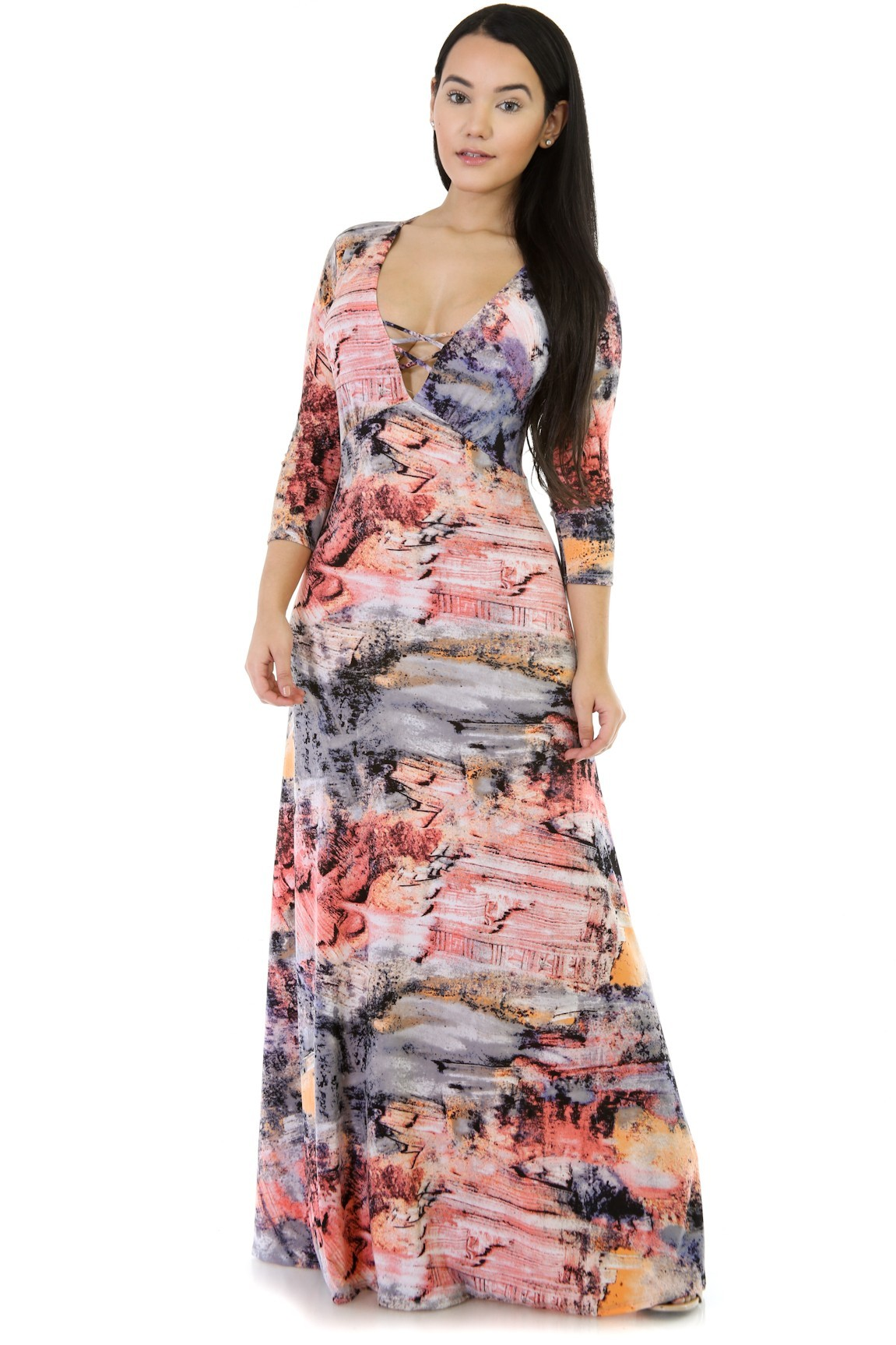 Tripple Color in You Maxi Dress
