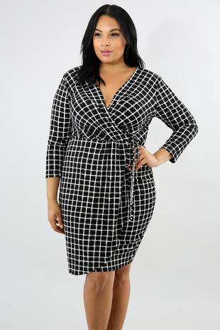 Checkered Sketch Dress