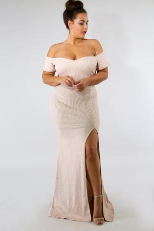 Sparkle Stripe Mermaid Dress