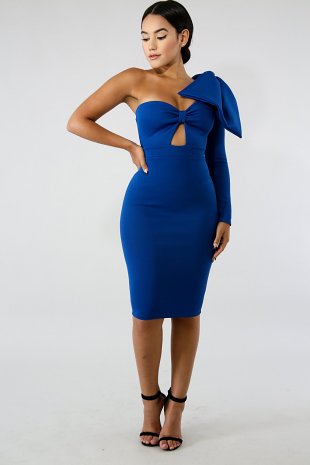 Bow Stunner Body-Con Dress