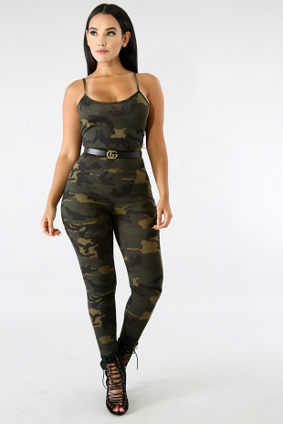 Good To Go Camouflage Jumpsuit