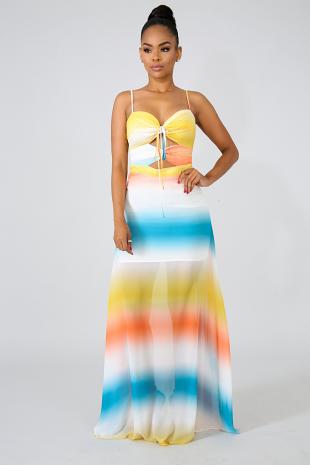 Mesmerizing Sheer Maxi Dress