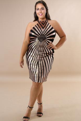 Sequin Drazzel Body-Con Dress