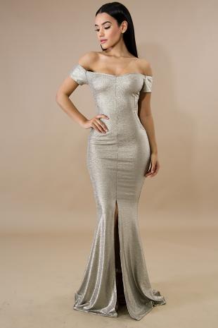 Shine Specs Mermaid Maxi Dress
