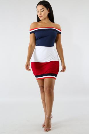 Varsity Body-Con Dress