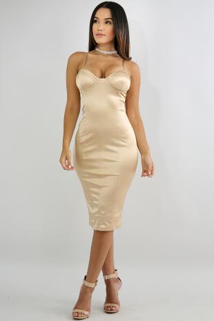 Silk Shine Body-Con Dress