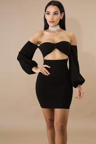 Sweetheart Bandeau Mini Dress
