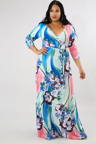 Sky Bloom Maxi Dress