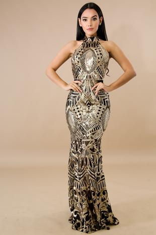 Milan Sequin Maxi Dress