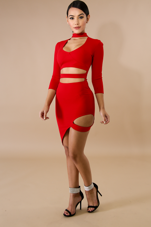 Bondage Choker Body-Con Dress