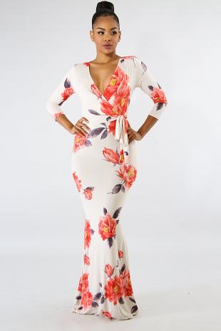 Dreamy Floral Maxi Dress
