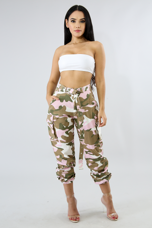 Camouflage Boxy Jeans