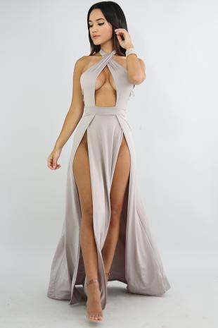 Fire Slit Maxi Dress