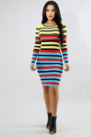Honey Bee Rib Knit Dress