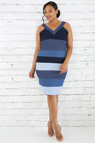 Denims Mixture Body-Con Dress