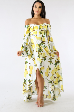 Lemons Flare Dress
