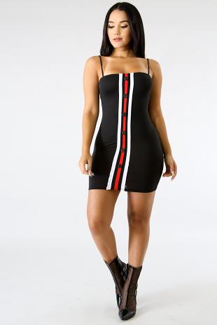 Catch Me Stripe Body-Con Dress