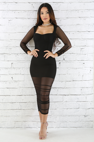 Baby Girl Scrunched Body-Con Dress