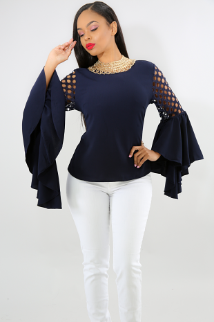 Flare Dots Top