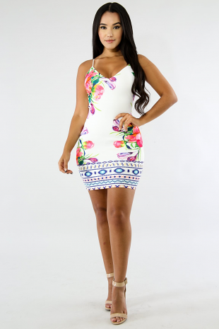 Mixed Mini Dress