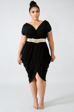 Honey Drape Midi Dress
