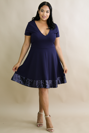Flare Sequin Baby Girl Dress