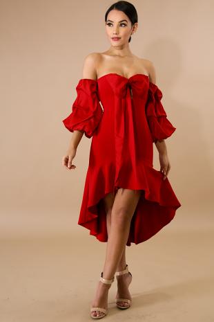 Tiered Wrap Dress