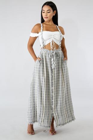 Suspender Maxi Skirt