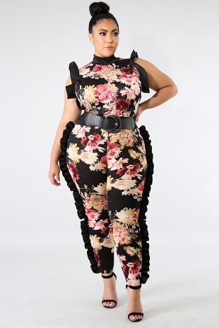 Sasha Floral Ruffle Jumpsuit