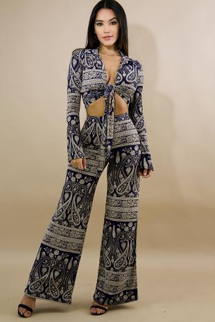 Paisley Kimono Pant Set