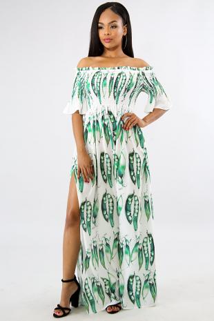 Sweet Pea Slit Maxi Dress
