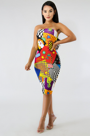 Vintage Beauty Body-Con Dress