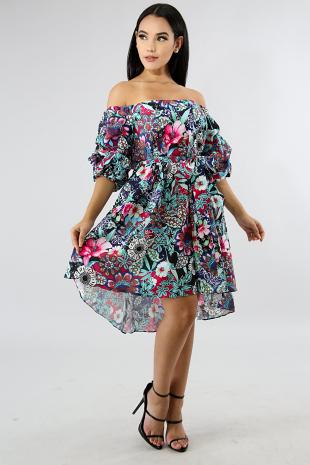 Classic Floral Dress
