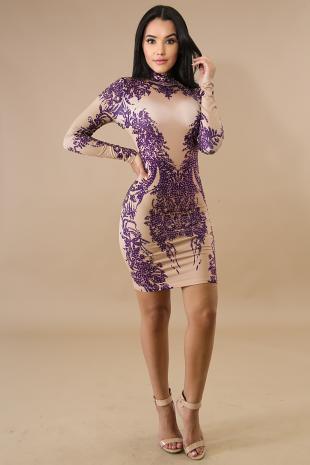 Esmeralda Gem Body-Con Dress