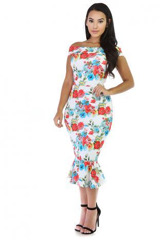 Floral Mermaid Yancy Dress