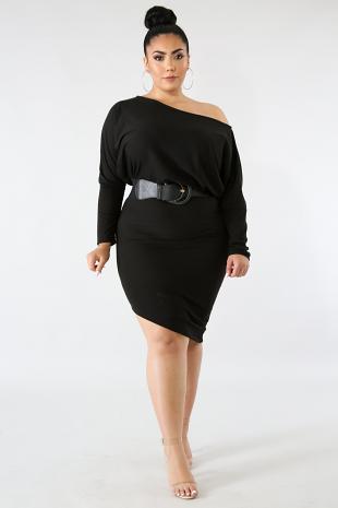 Dolmen Body-Con Dress