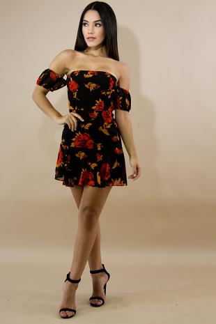 Floral Mini Flare Dress