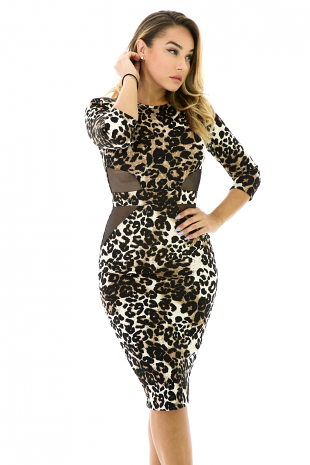 Cheetah Girl Midi Fit Dress
