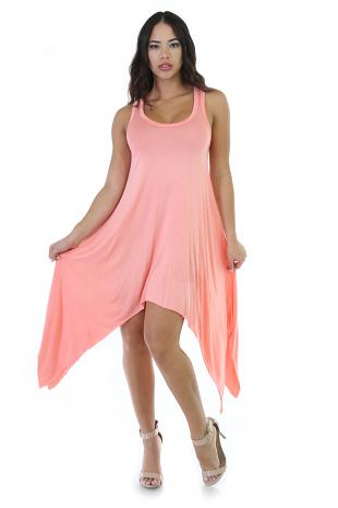 Flare Symmetrical Midi Dress