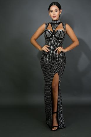 In Love Side Line Maxi Dress