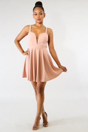 Sweet Heart Flare Dress