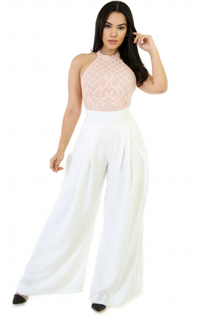 Wide Leg High Waist Pocket Pants