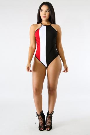 Net Stripe Bodysuit